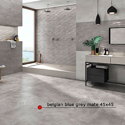 belgian blue grey mate 45x45