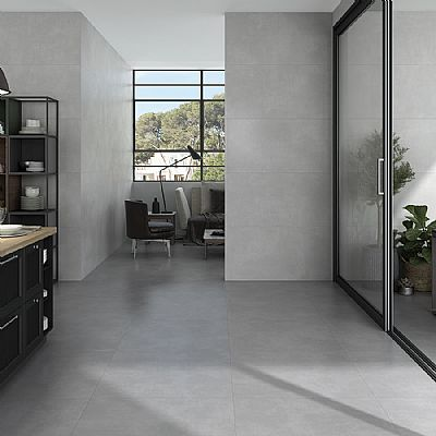 concrete select gris rett. mate 60x120